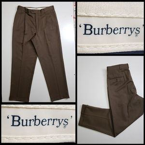 Burberry men's pleated brown pants size 35